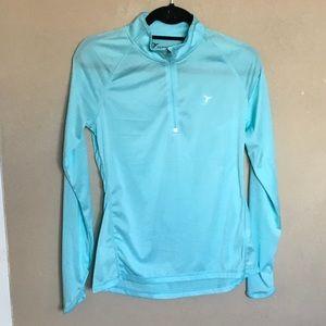 Light blue 1/4 zipper active wear jacket size S